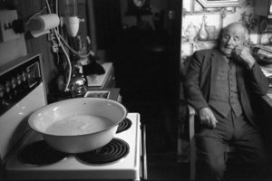 George Voysey in the kitchen at Cawseys Farm by James Ravilious