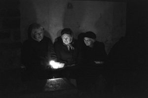 Carol singers by James Ravilious