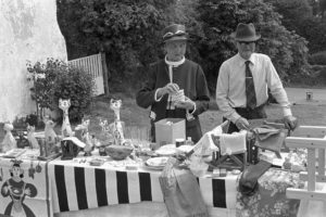 Stall at Iddesleigh Church Fete by James Ravilious