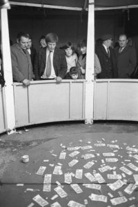 Money stall at Carnival Fair by James Ravilious