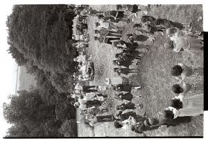 Brownies performing at Chulmleigh Church Fete by James Ravilious