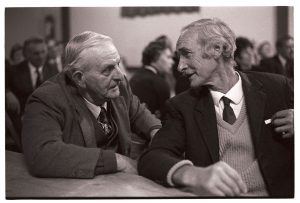 Cyril Webber and Fred Folland at the Harvest Supper by James Ravilious