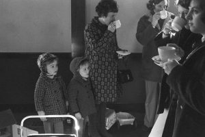 Mothers and children at Dolton Playgroup by James Ravilious