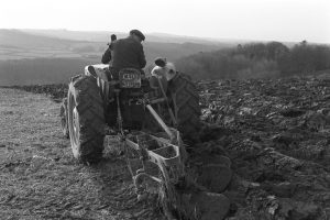George Ayre ploughing by James Ravilious