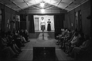 Ladies fashion show by James Ravilious