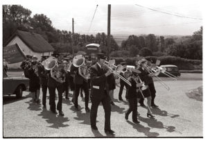 Iddesleigh Friendly Society parade by James Ravilious