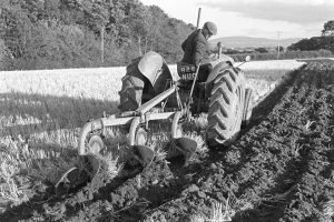 John Ward ploughing by James Ravilious