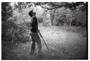 David Ward shooting squirrels by James Ravilious