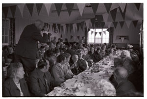 Jubilee tea in the village hall by James Ravilious