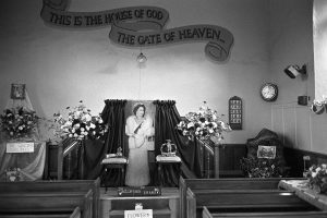 Baptist Chapel with life size portrait of the Queen by James Ravilious