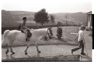 Pony rides for children at Torridge View Residential Home by James Ravilious