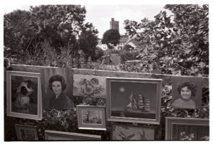 Paintings displayed at Atherington Village Fete by James Ravilious
