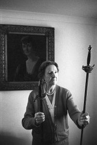 Cécile Joynson with broken sword by James Ravilious