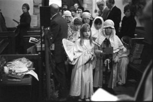Nativity play in Dolton church by James Ravilious