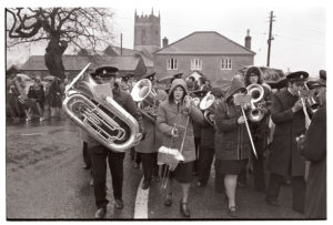Brass band at the carnival parade by James Ravilious