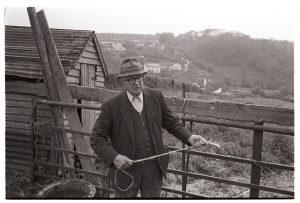 Elderly farmer by James Ravilious