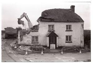 Demolision of cottage for road widening by James Ravilious