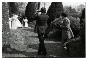 Wedding of Janet Gooch and Keith Sullivan: photographing the bridal group by James Ravilious