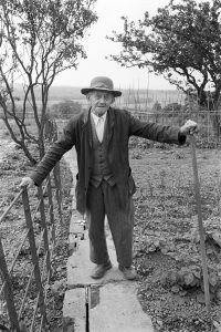 Edward Cowle in his garden