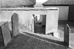 Churchyard steps at Winkleigh by James Ravilious