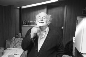 Archie Parkhouse shaving by James Ravilious