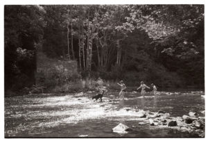 Children playing in the River Torridge by James Ravilious