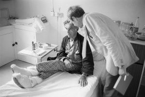 Dr Richard Westcott visiting a patient by James Ravilious