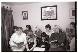 Choir practice by James Ravilious