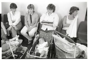 Baby competition at Chulmleigh Fair by James Ravilious