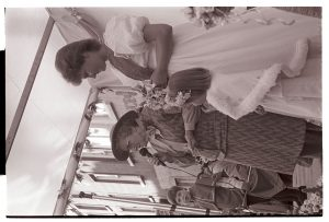Elsie Brayley crowning Sandra Ford as Chulmleigh Fair Queen by James Ravilious