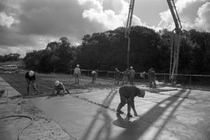 Building the new link road by James Ravilious