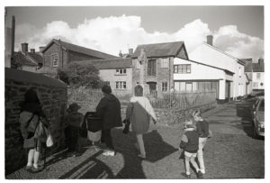 Mothers and children after school by James Ravilious
