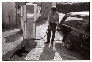 Village petrol pump by James Ravilious