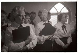 Ladies choir by James Ravilious