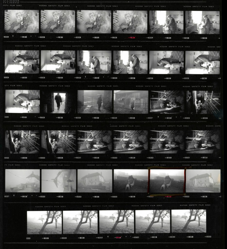 Contact Sheet 2254 by James Ravilious